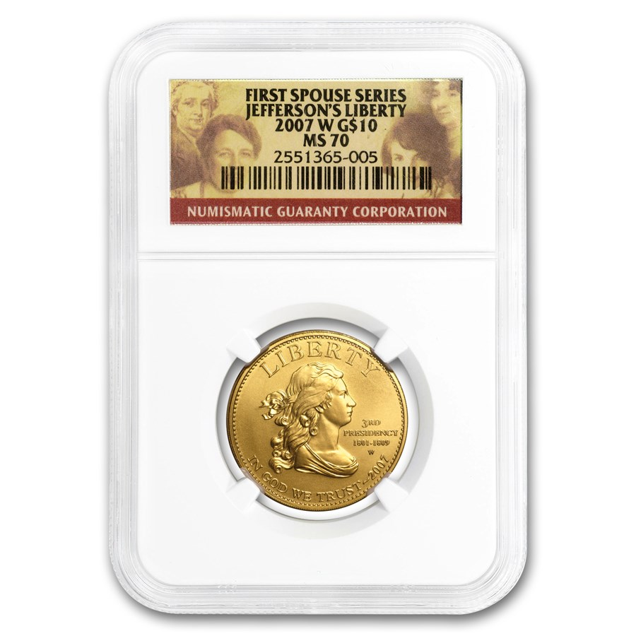 1/2 oz Gold First Spouse Coins MS-70 NGC (Random Year)