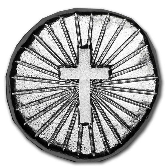 1/2 oz Hand Poured Lucky Pieces - 9Fine Mint (Cross)