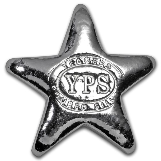 1/2 oz Hand Poured Silver Star - YPS