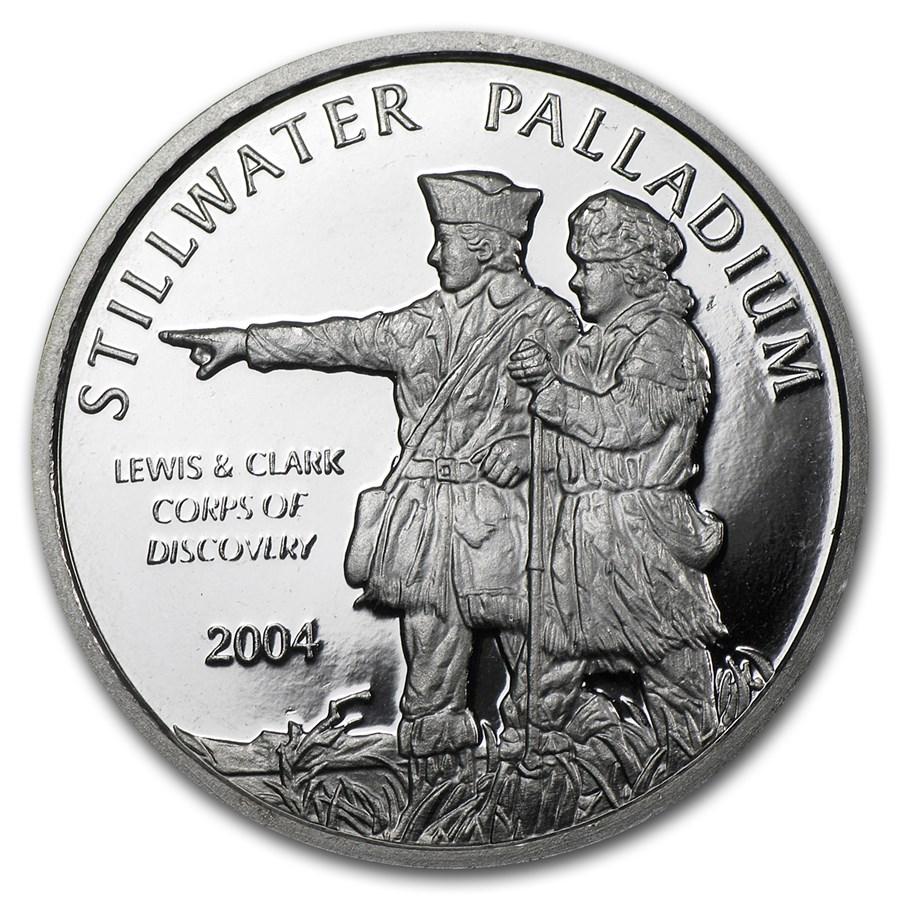 1/2 oz Palladium Round - Johnson Matthey Lewis & Clark (Single)