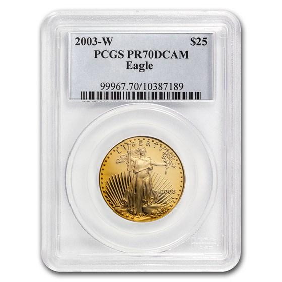 1/2 oz Proof American Gold Eagle PR-70 PCGS (Random Year)