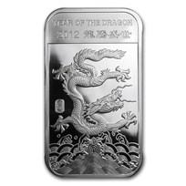 1/2 oz Silver Bar - APMEX (2012 Year of the Dragon)