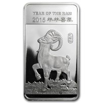 1/2 oz Silver Bar - APMEX (2015 Year of the Ram)