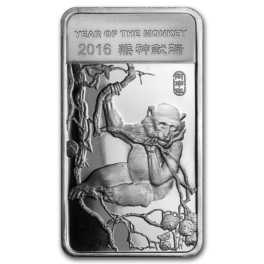 1/2 oz Silver Bar - APMEX (2016 Year of the Monkey)