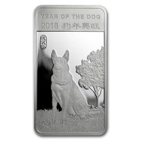 1/2 oz Silver Bar - APMEX (2018 Year of the Dog)