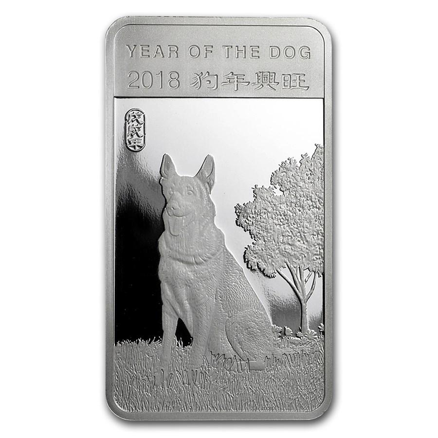 1/2 oz Silver Bar - APMEX (2018 Year of the Dog)