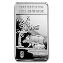 1/2 oz Silver Bar - APMEX (2019 Year of the Pig)