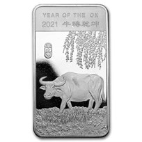 1/2 oz Silver Bar - APMEX (2021 Year of the Ox)