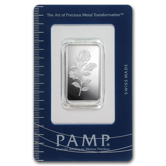 1/2 oz Silver Bar - PAMP Suisse (Rosa, In Assay)