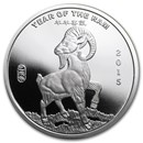 1/2 oz Silver Round - APMEX (2015 Year of the Ram)
