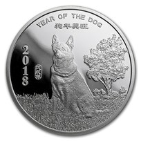 1/2 oz Silver Round - APMEX (2018 Year of the Dog)