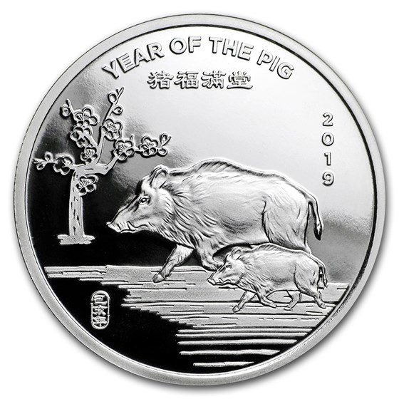 1/2 oz Silver Round - APMEX (2019 Year of the Pig)