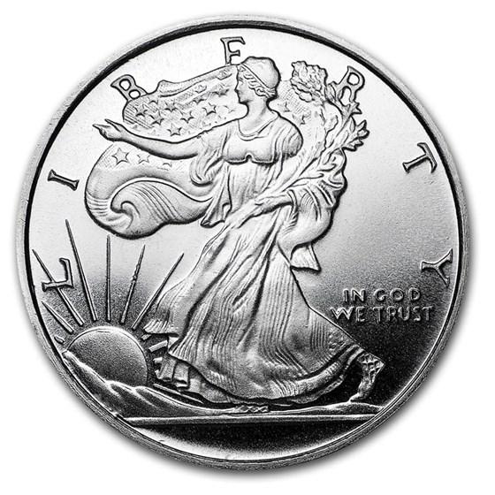 1/2 oz Silver Round - APMEX (Walking Liberty Half-Dollar)