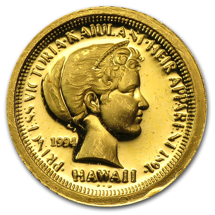 1/20 oz Gold Round - 1994 Hawaii Princess Victoria Kaiulani