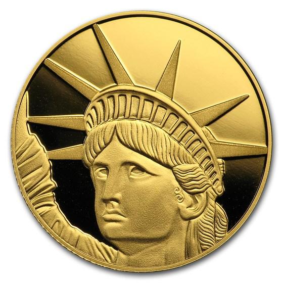 1/4 oz $25 Solomon Islands Proof Gold Lady Liberty (In Capsule)