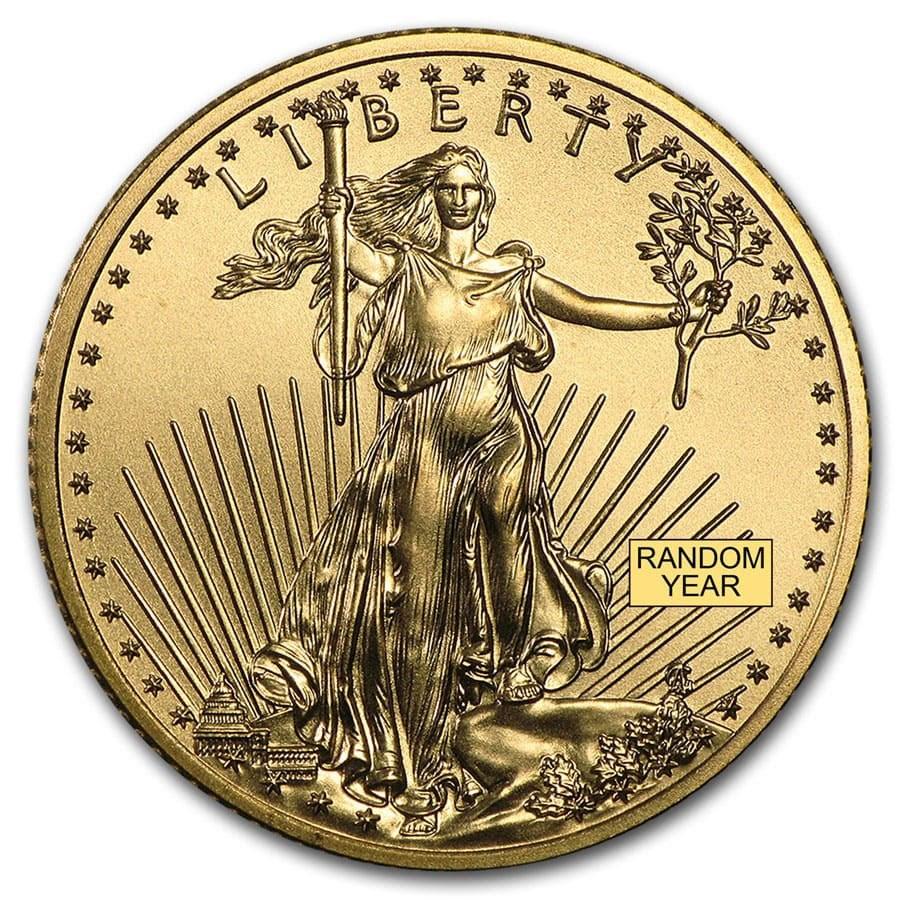 1/4 oz American Gold Eagle BU (Random Year)