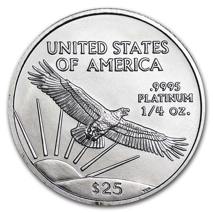 1/4 oz American Platinum Eagle Coin BU (Random Year)