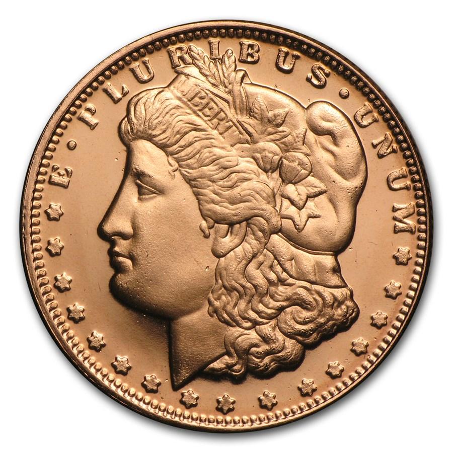 1/4 oz Copper Round - Morgan Dollar (20 count tube)