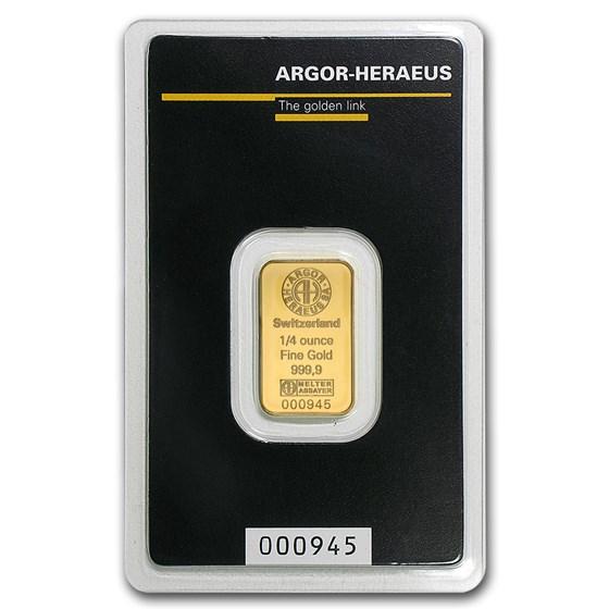 1/4 oz Gold Bar - Argor-Heraeus (In Assay)