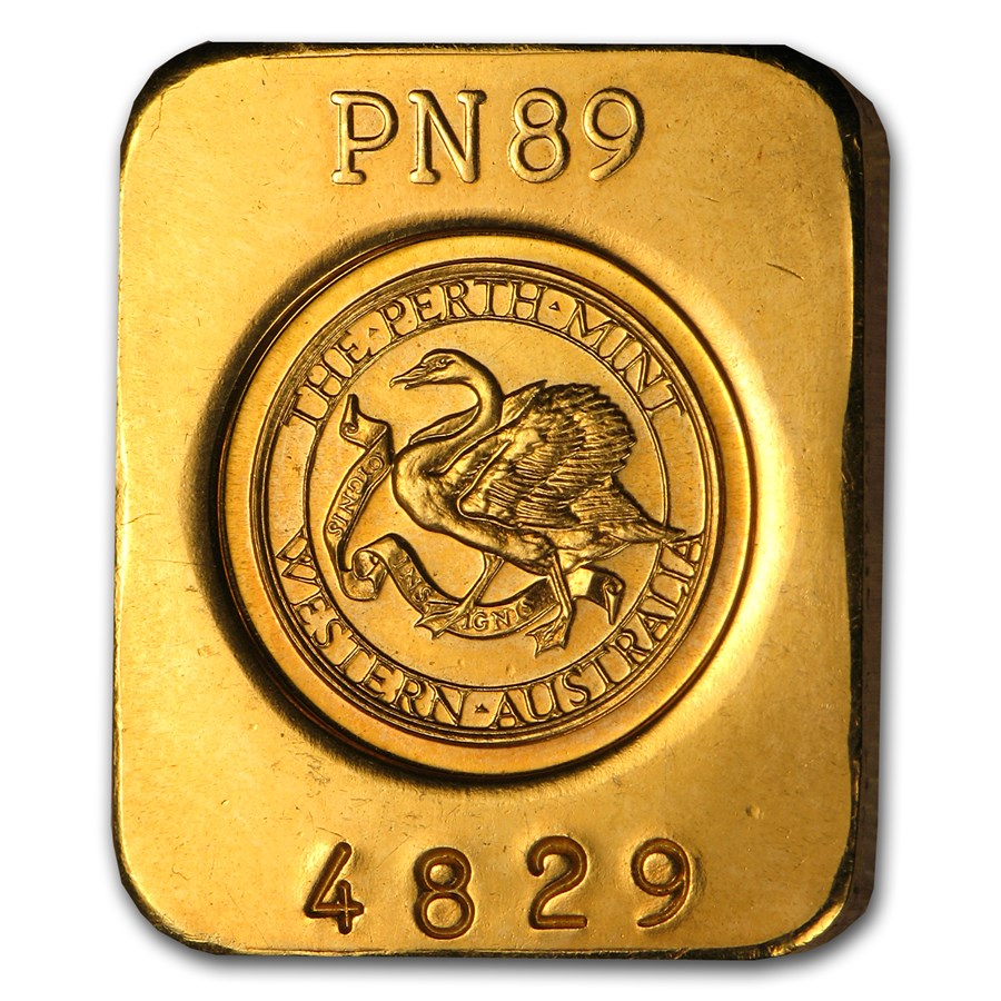 1/4 oz Gold Bar - Perth Mint (.375 Fine/.2512 AGW)