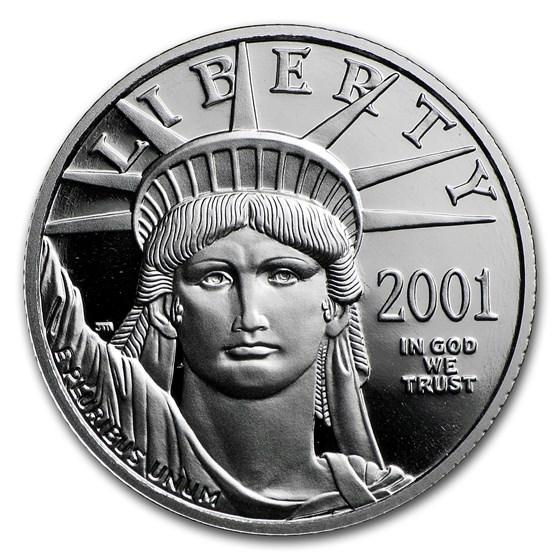 1/4 oz Proof American Platinum Eagle (Random Year, Capsule Only)