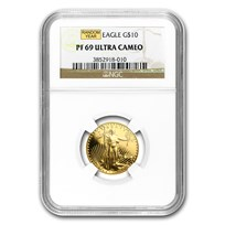 1/4 oz Proof Gold American Eagle PF-69 NGC (Random Year)