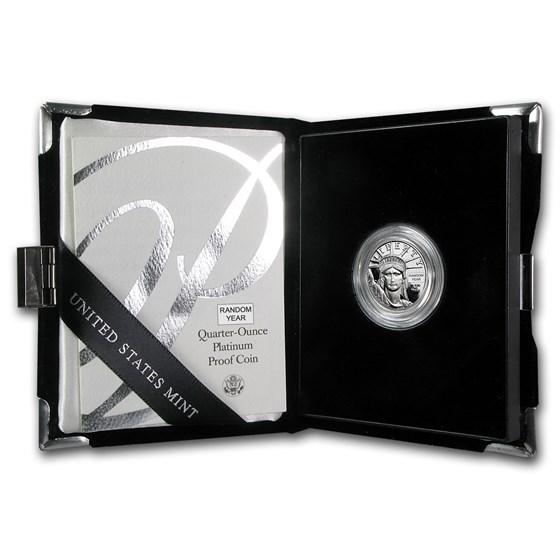 1/4 oz Proof Platinum American Eagle (Random Year, w/Box & COA)