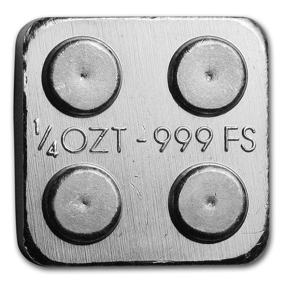 1/4 oz Silver Building Block Bars (2x2)