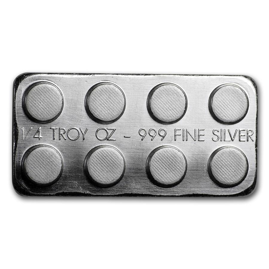 1/4 oz Silver Building Block Bars (2x4)