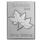 1/4 oz Silver Piece of Canadian Mint Maple Flex Bar (.9999 Fine)