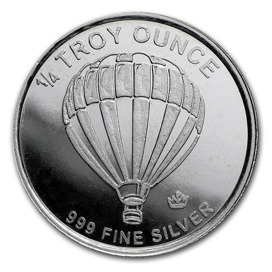 1/4 oz Silver Round - Hot Air Balloon