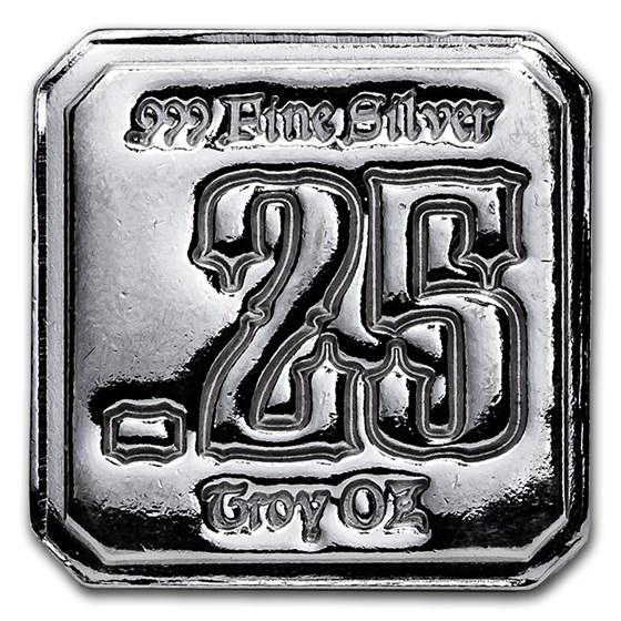 1/4 oz Silver Square - High Luster (Suns of Liberty Mint)