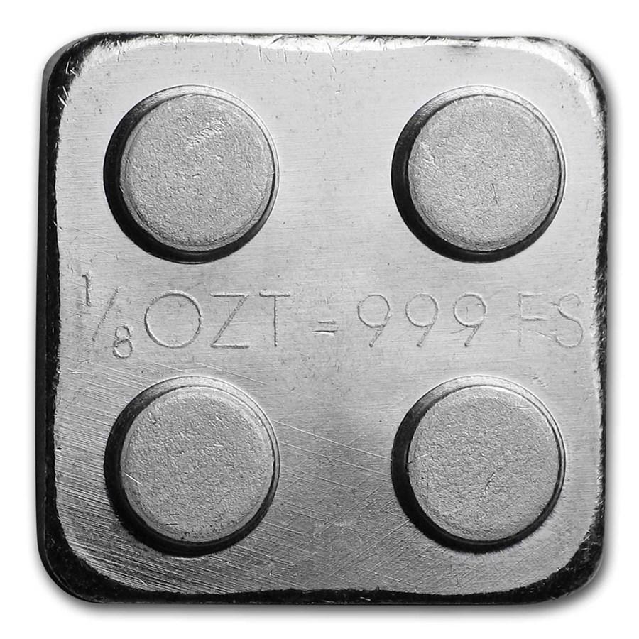 1/8 oz Silver Building Block Bars (2x2)