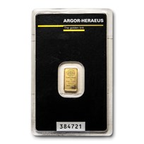 1 gram Gold Bar - Argor-Heraeus (In Assay)
