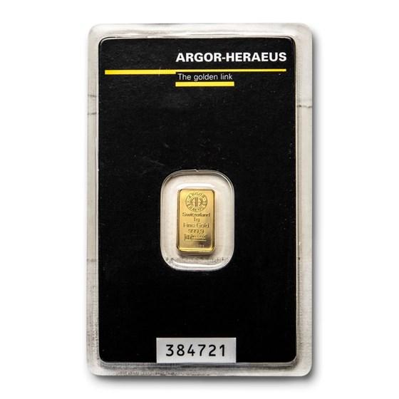 1 gram Gold Bar - Argor-Heraeus (In Assay)