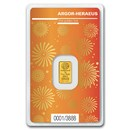 1 gram Gold Bar - Argor-Heraeus Year of the Ox (In Assay)