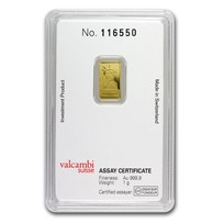 1 gram Gold Bar - Credit Suisse Statue of Liberty (New Assay)