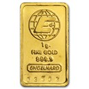 1 gram Gold Bar - Engelhard