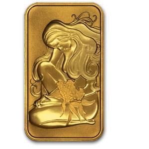 1 gram Gold Bar - Oriana Perth Mint .9999 Fine (No Assay)