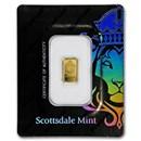 1 gram Gold Bar - Scottsdale Mint (In Certi-Lock® Assay, Black)