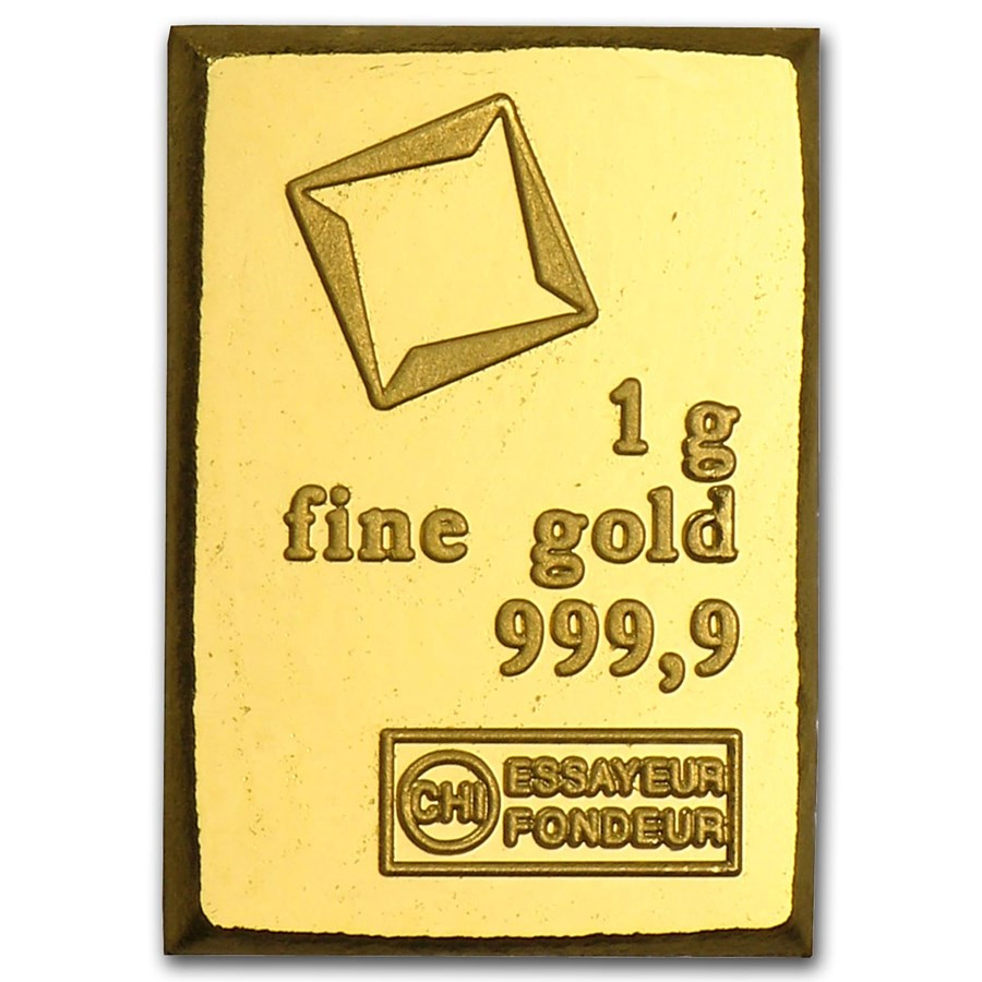 1 gram Gold Bar - Valcambi