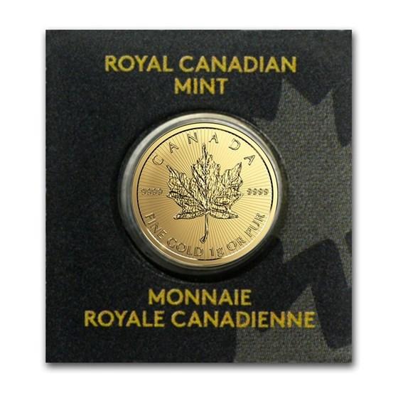 1 gram Gold Maple Leaf - Maplegram 25™ (In Assay, Random Year)
