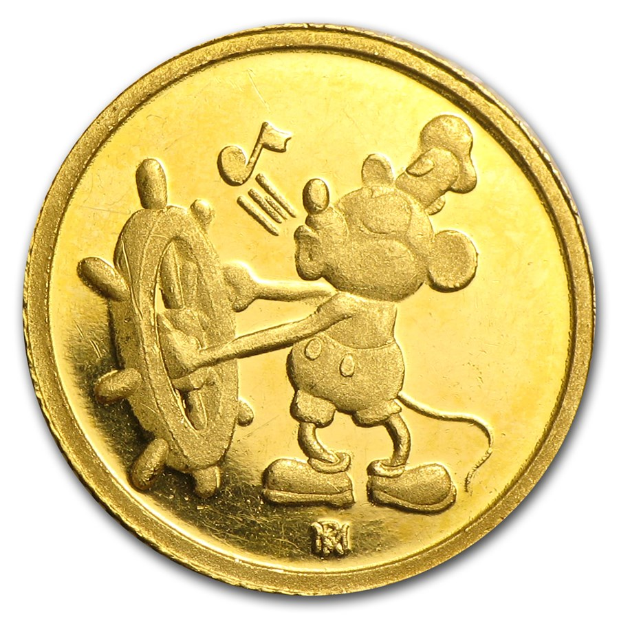 1 gram Gold Round - Walt Disney Mickey Mouse 60th Anniversary