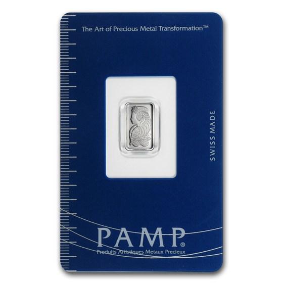 1 gram Platinum Bar - PAMP Suisse (In Assay)
