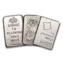 1 gram Platinum Bar - Secondary Market