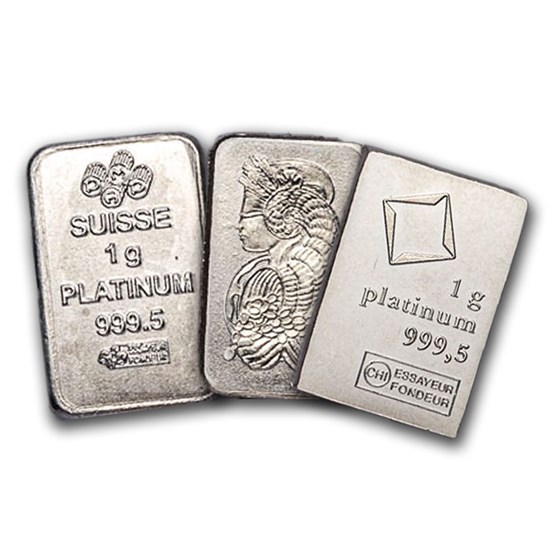 1 gram Platinum Bar - Secondary Market