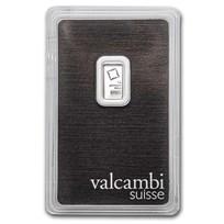 1 gram Platinum Bar - Valcambi (In Assay)