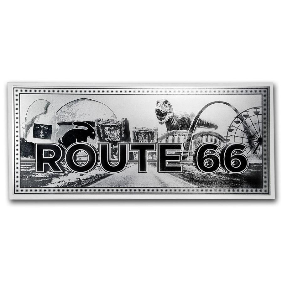 1 gram Silver Foil Note - Route 66