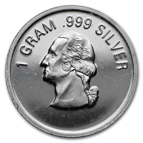 1 gram Silver Round - Secondary Market