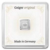 1 gram Silver Square - Geiger Edelmetalle (Encapsulated w/Assay)
